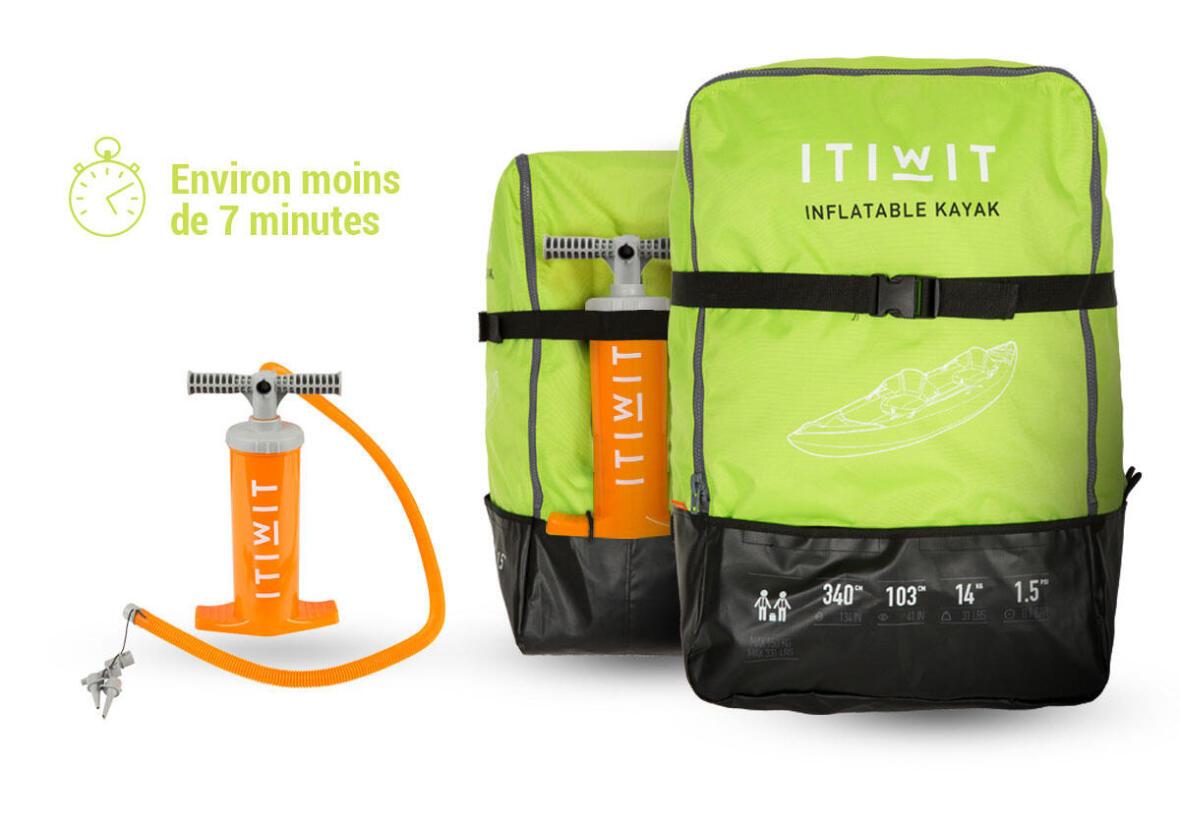 kayak-gonflable-itiwit-pompe-et-sac itiwit decathlon