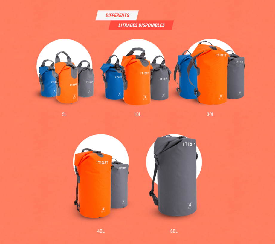 sacs polonchon etanches itiwit by decathlon