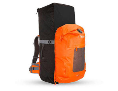 ITIWIT 500 TOURING STAND UP PADDLE WATERTIGHT BACKPACK 100L + 40L - ORANGE
