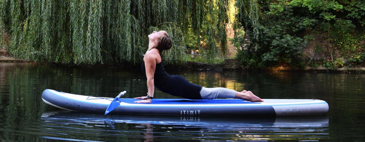 Facing Dog yoga stand up paddle