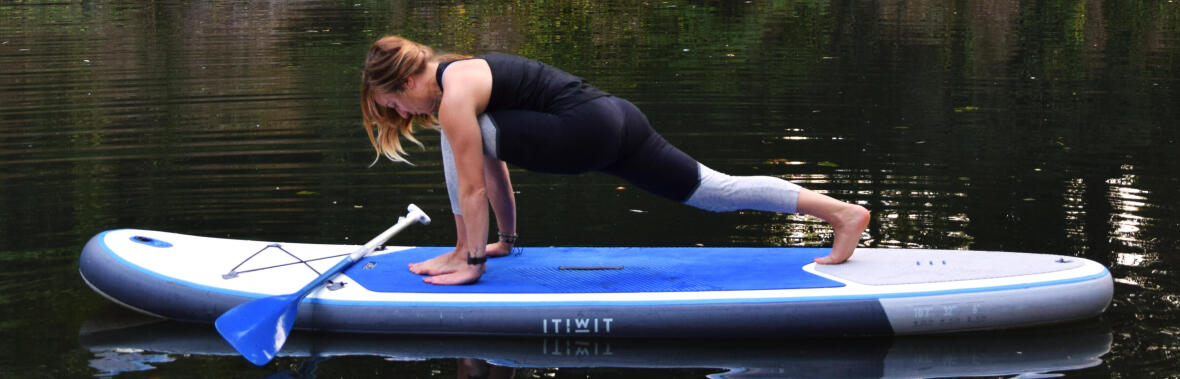 yoga stand up paddle lunge