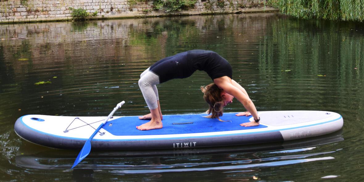 stand up paddle board yoga urdhva