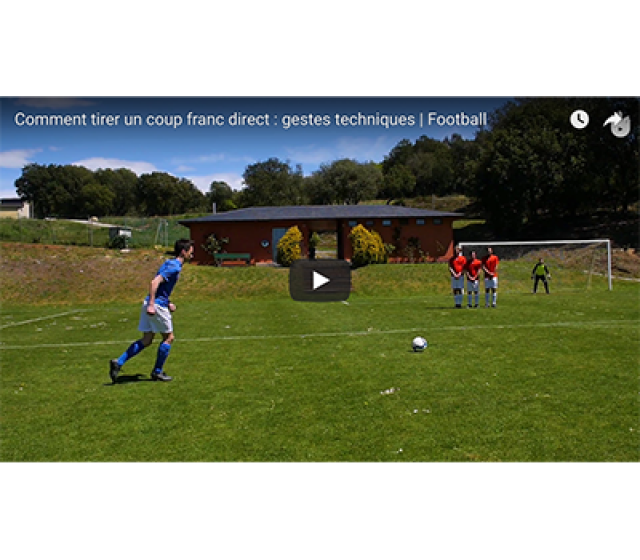 Video Football Faire Un Coup Franc Kipsta By Decathlon