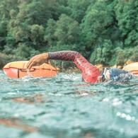 Nageurs natation eau libre