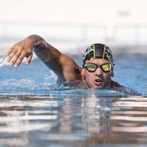 Respiration de natation eau libre