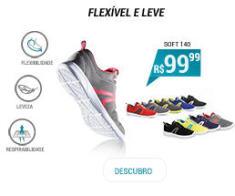 Tênis de caminhada ativa Soft140 - Flexível e leve