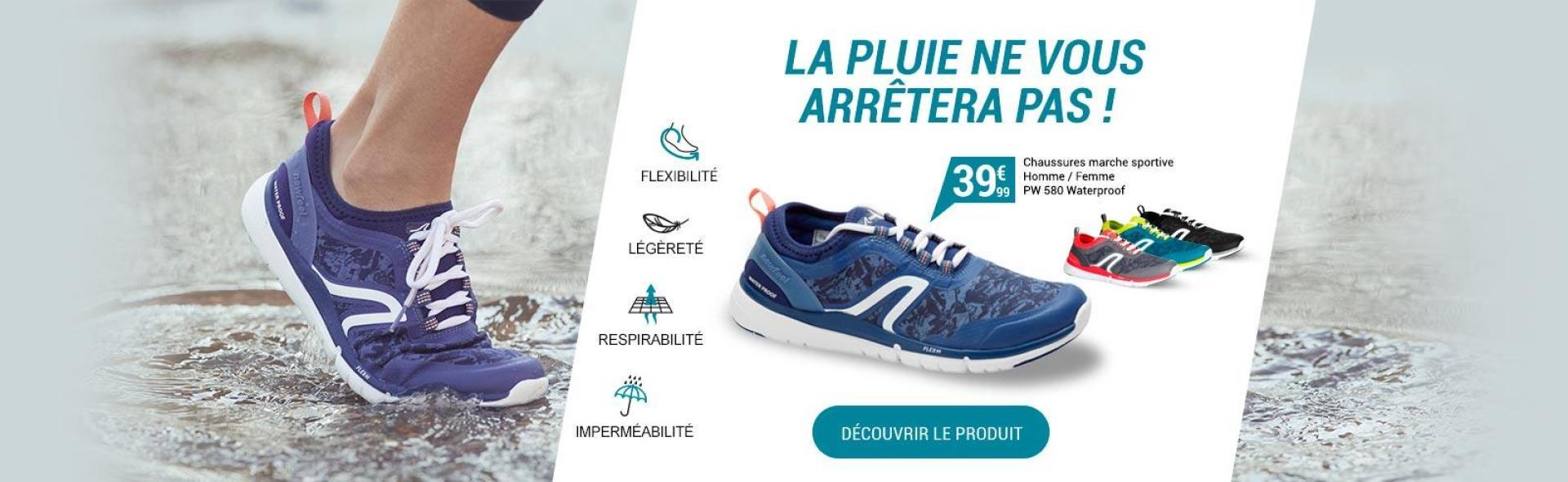 Marchez par tous les temps avec les chaussures de marche sportive PW 580