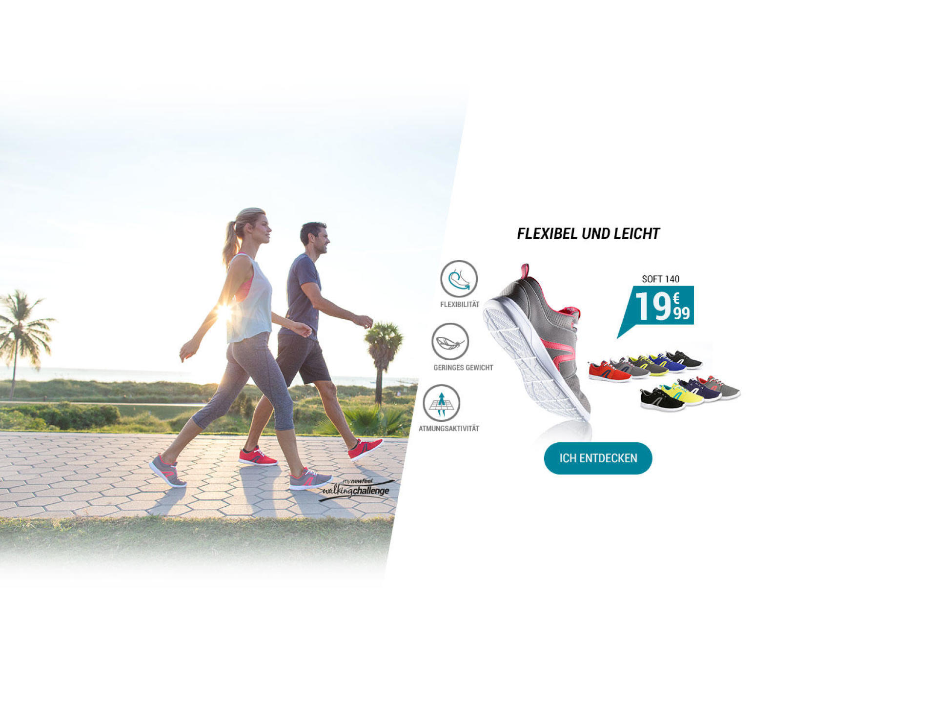 Walkingschuhe Soft 140 - Flexibel und leicht