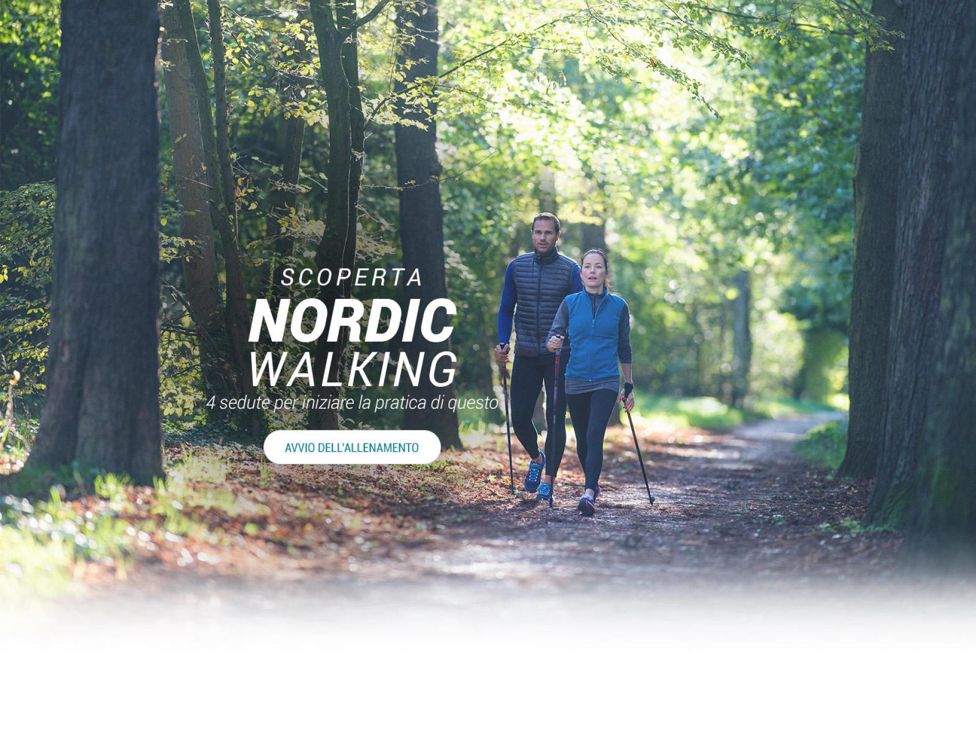 SCOPERTA DEL NORDIC-WALKING - 4 sedute per iniziare la pratica di questo sport