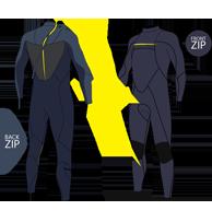 Combinaison de surf front zip vs back zip : le comparatif