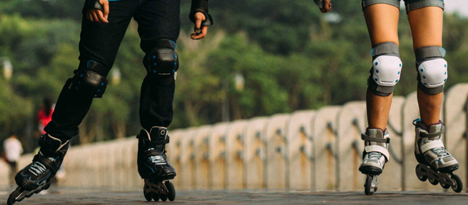 Les protections des jambes en roller