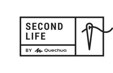 logo second life réparer son produit outdoor , tente , sac à dos , doudoune , polaire