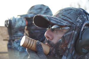 migratory game bird hunting camouflage equipment
