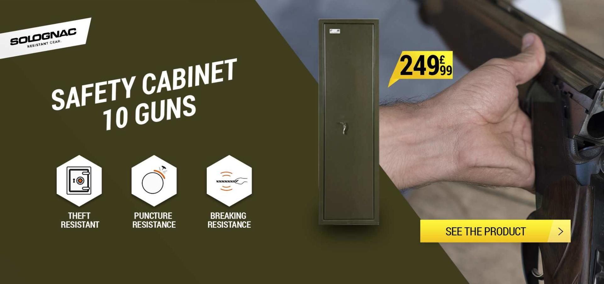 Safety Cabinet 100, 10 guns