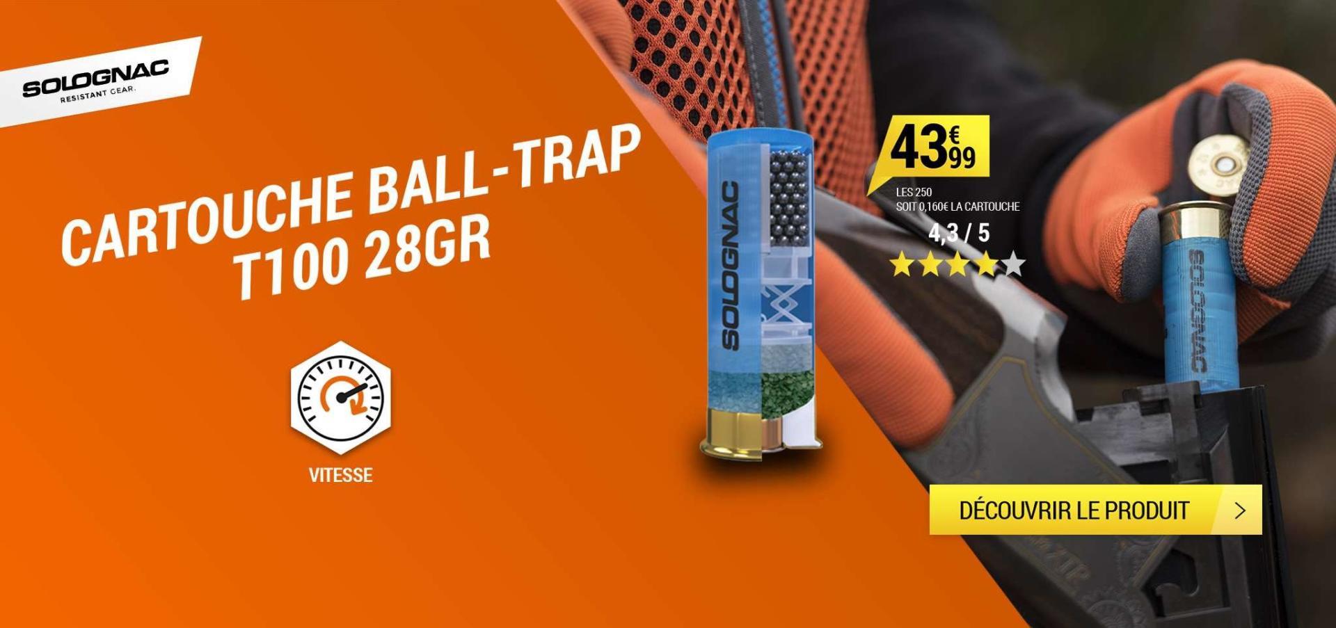 Cartouche Ball-trap Solognac