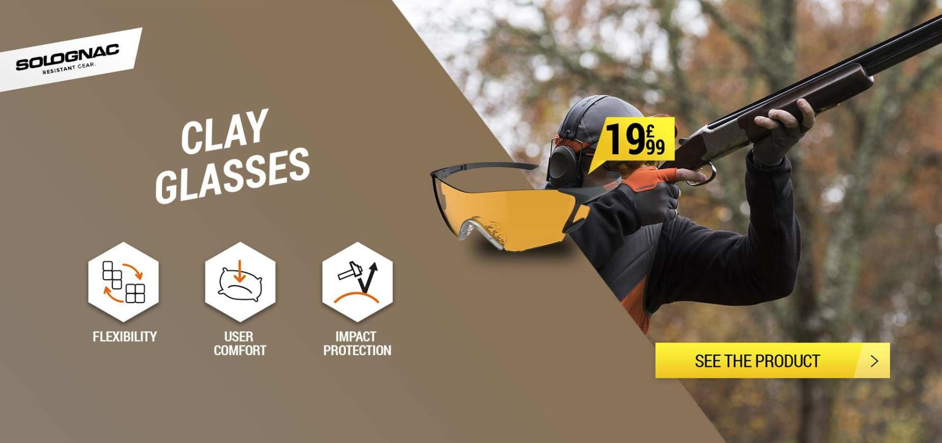 Clay pigeon shooting glasses