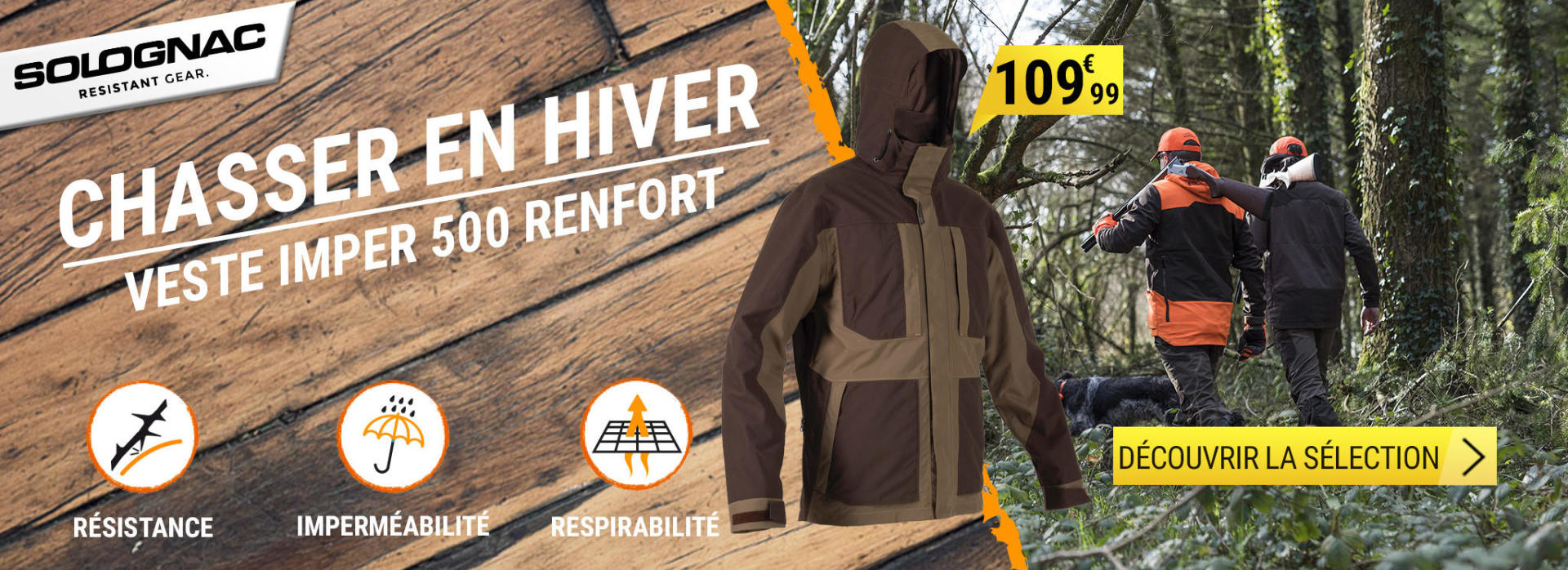 Découvrez notre sélection de produits pour chasser confortablement tout l'hiver durant.