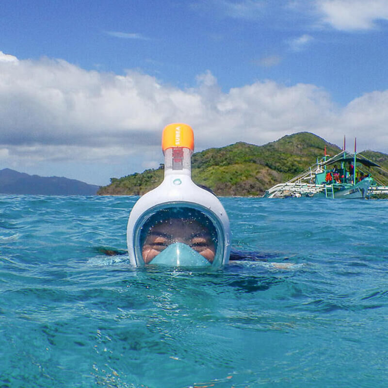tips how to use easybreath mask emily product manager snorkelling subea el nido philippines