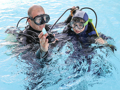 conseil faire découvrir plongée bouteille enfants baptême subea