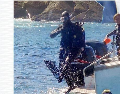 conseil techniques mise à l'eau plongée sous marine saut droit subea