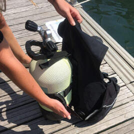 conseil comment équiper bloc de plongée bouteille gilet stabilisateur subea