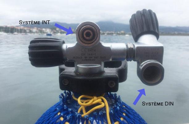 comment équiper son bloc de plongée détendeur système din int subea