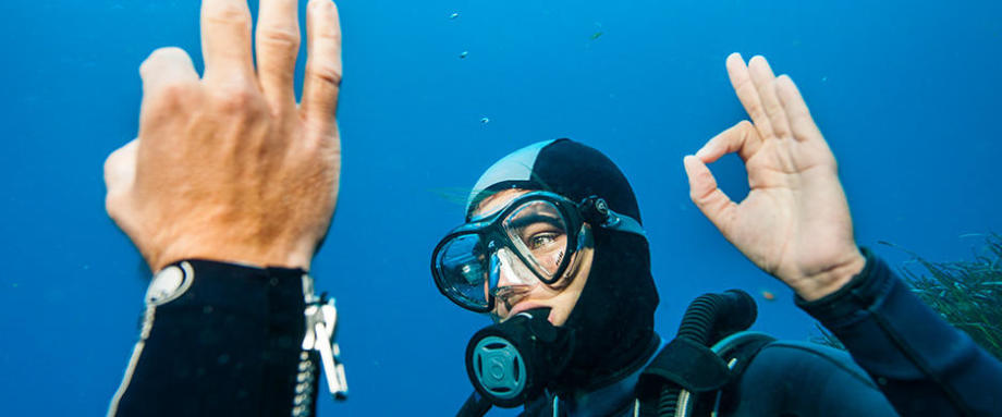 Running out of air during a dive: what to do?