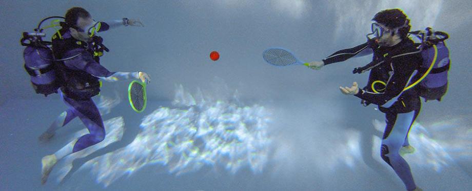 tennis subaquatique exercice plongée subea