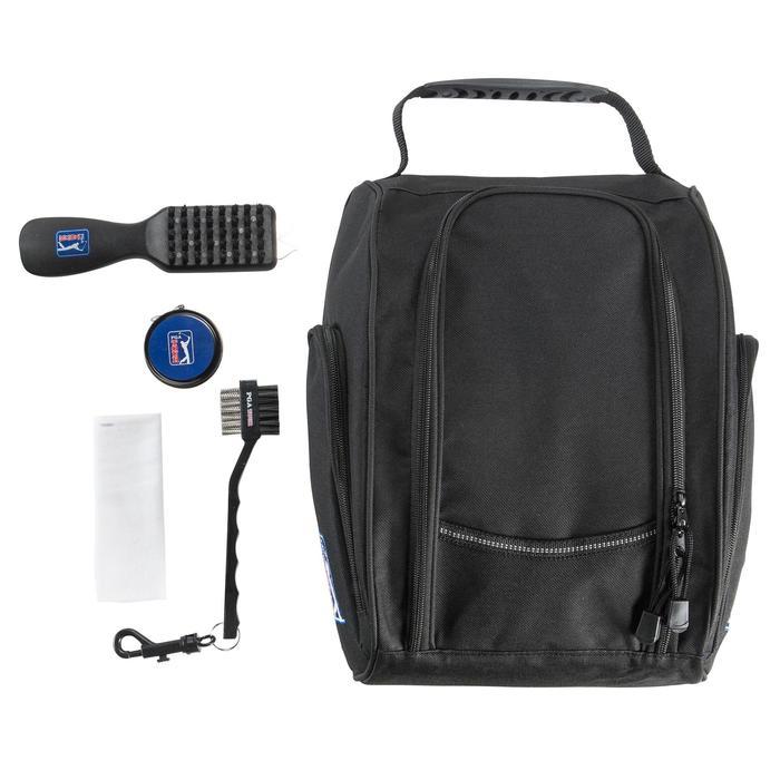 Pack met onderhoudsmateriaal voor golfschoenen zwart - 148178