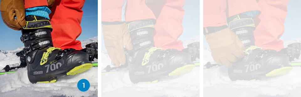 bien serrer les crochets des chaussures de ski - media
