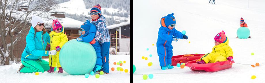 partir ski bebe - titre