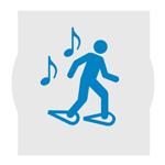 icone raquette et musique