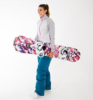 comment porter son snowboard les techniques de wed'ze