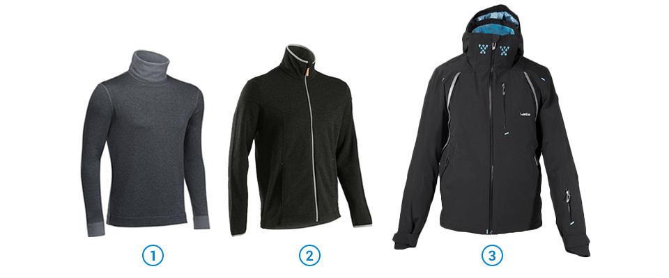 Bien s'habiller pour la pratique des sports d'hiver - 3 couches