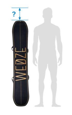 choisir la taille de mon snowboard - silhouette