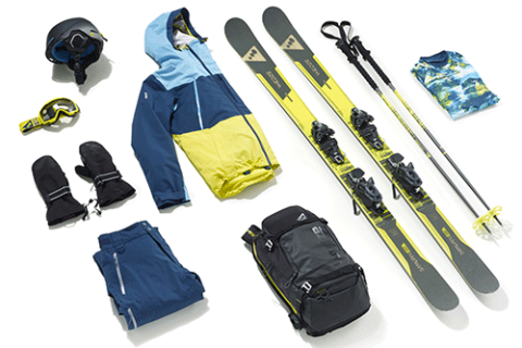 collection ski freeride