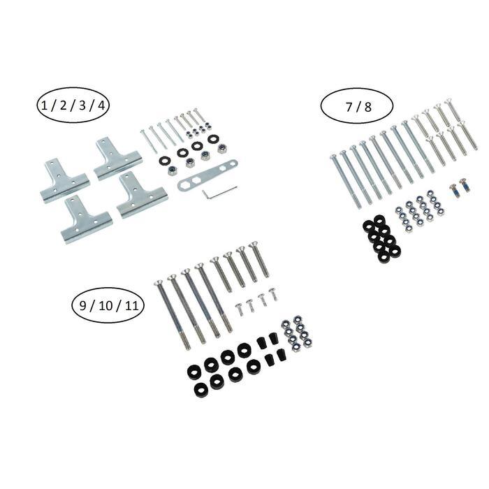 Schraubenset Tischtennisplatten Artengo FT 860 und PPT900 Outdoor