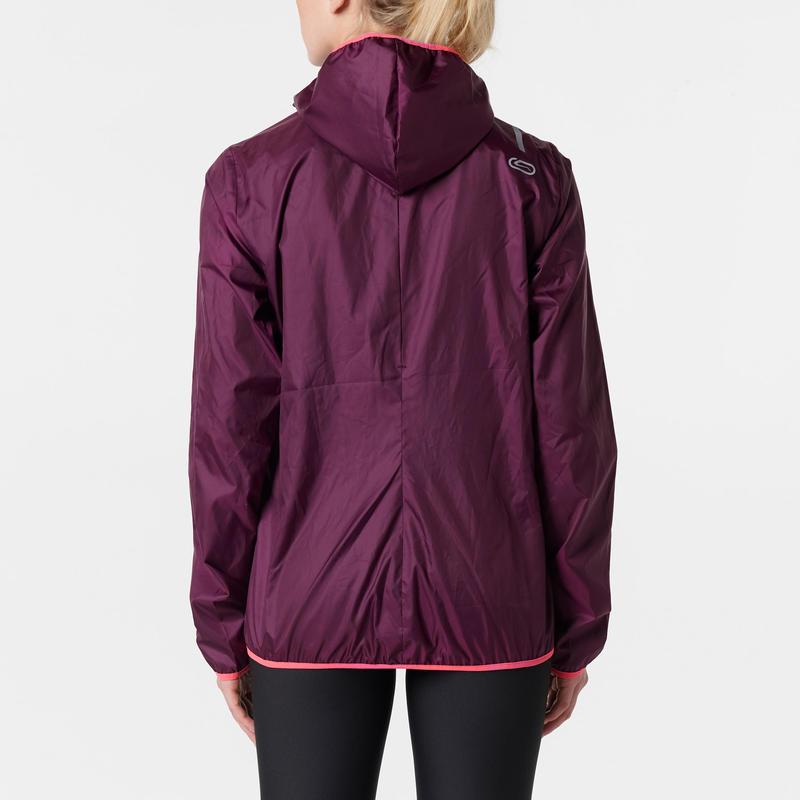 veste coupe vent jogging femme run wind bordeaux. Black Bedroom Furniture Sets. Home Design Ideas