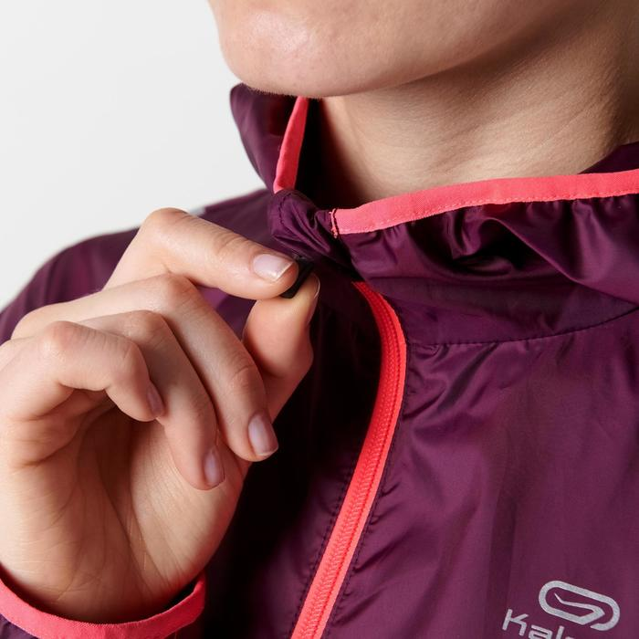 Dames windjack voor jogging Run Wind bordeaux