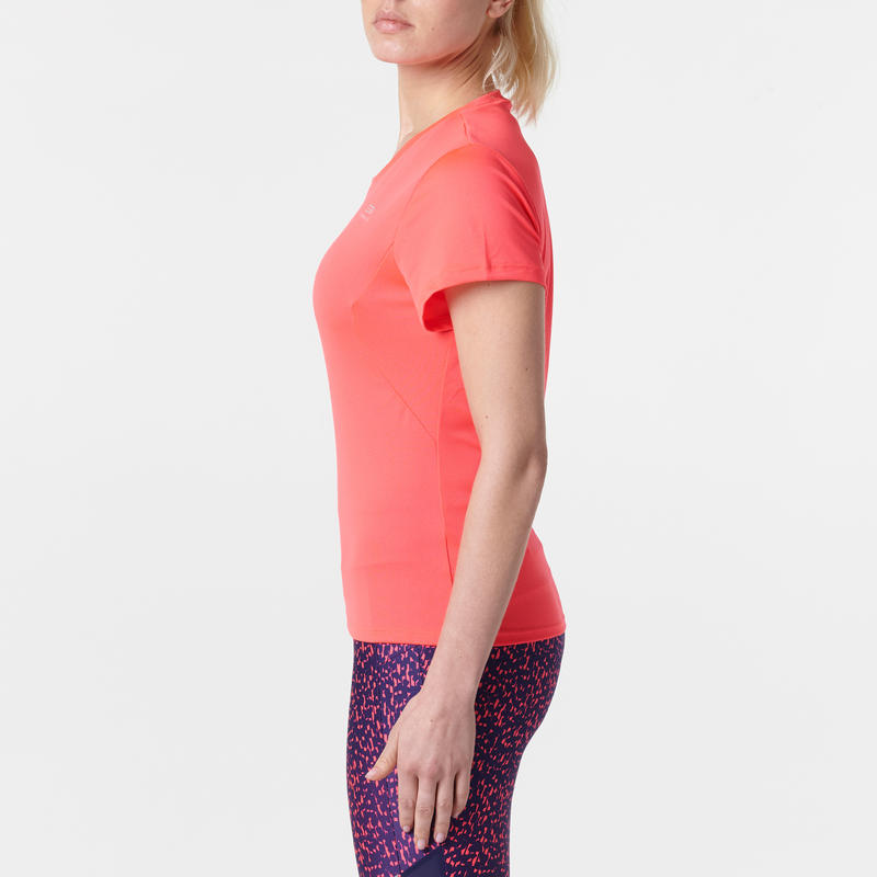 CAMISETA TROTE MUJER RUN DRY CORAL FLUO