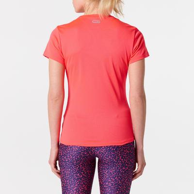 חולצת ריצה לנשים RUN DRY - קורל זוהר