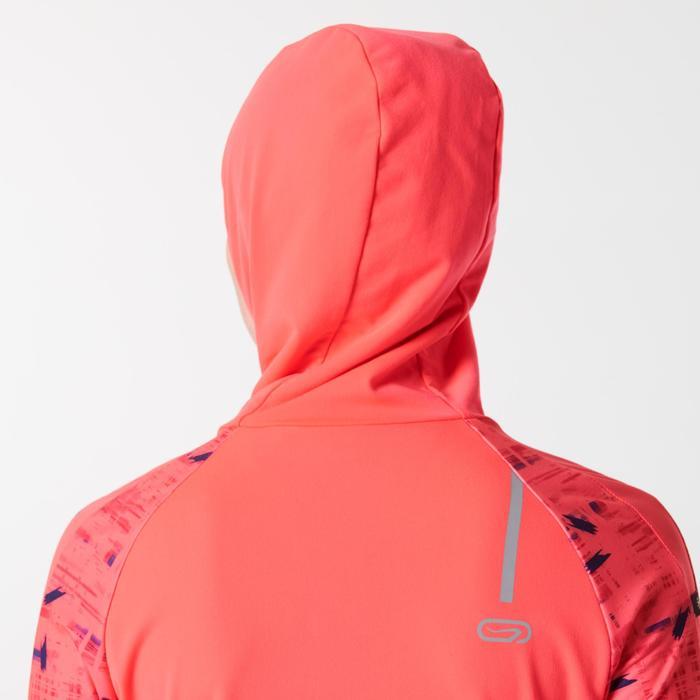 Damesvest voor hardlopen Run Warm Hood koraal