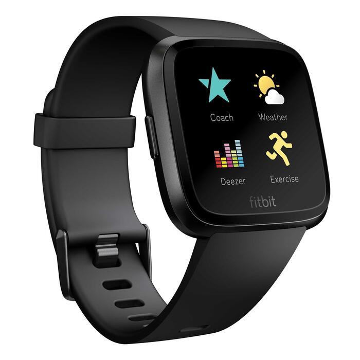Versa Smartwatch mit Pulsmesser am Handgelenk schwarz