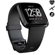 Črna ura z merilnikom srčnega utripa na zapestju VERSA CONNECTED