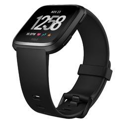 Pack avec montre connectée cardio au poignet Versa noire + bracelet gris