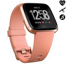 Smartwatch met hartslagmeter aan de pols Versa perzikroze