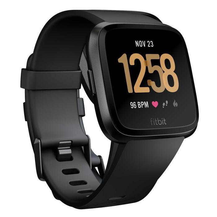 Montre connectée avec cardio au poignet Versa noire - 1483346