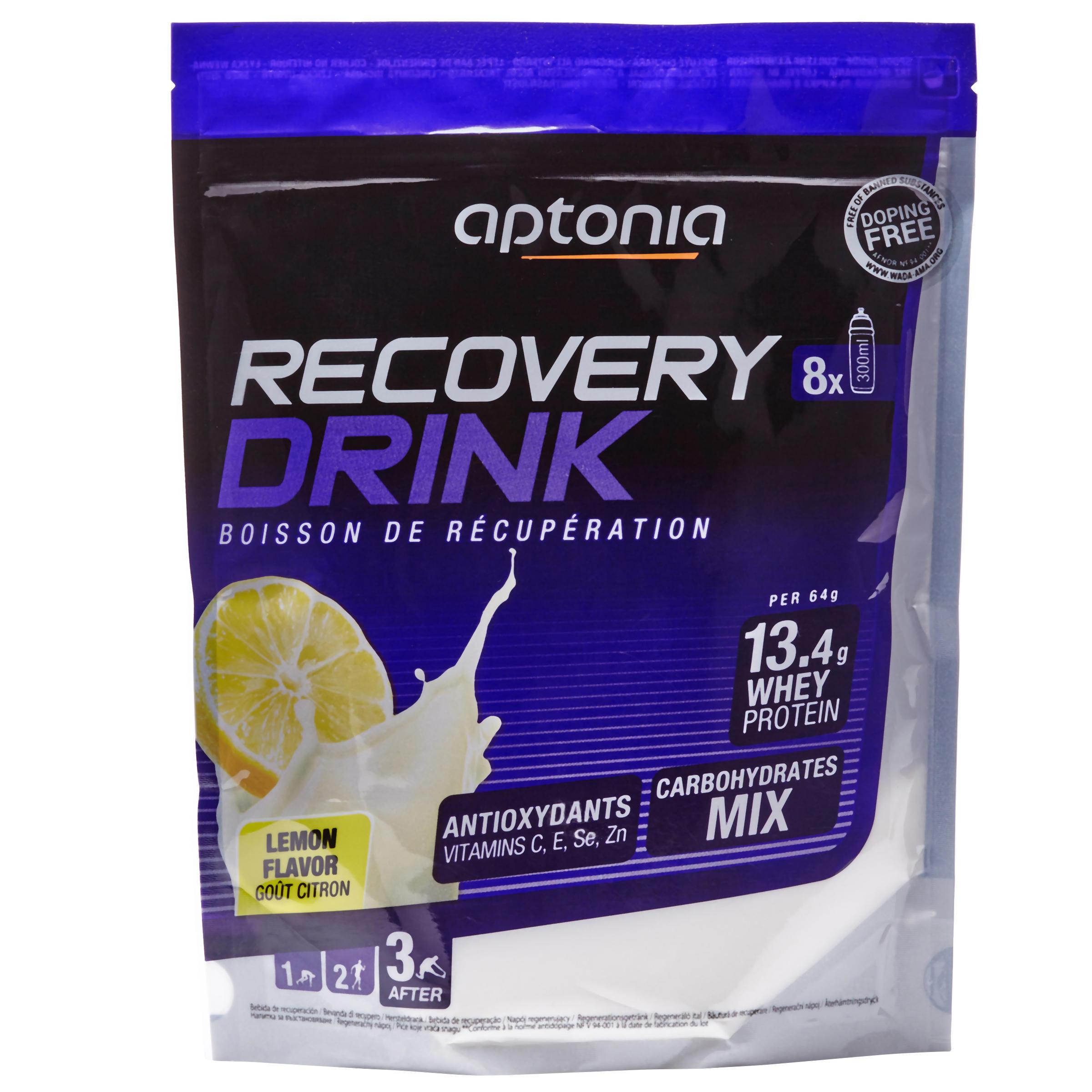 Aptonia Poederbereiding voor recuperatiedrank Recovery Drink citroen 512 g