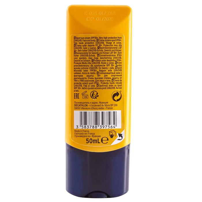 Crème de protection solaire sport IP50+ 50 mL - 1483395
