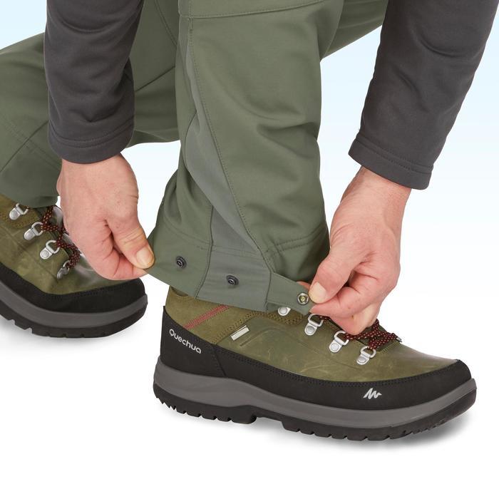 Heren wandelbroek voor de sneeuw SH500 X-warm kaki
